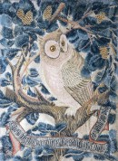 Owl embroidered panel