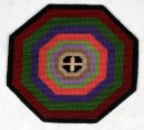 Octagonal Wool Work Mat