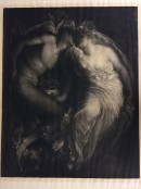 male and female figure in embrace