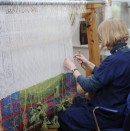Kirsten Glasbrook in her studio