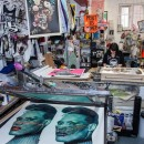 Printmaker Aida Wilde in her studio