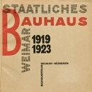 László Moholy-Nagy, title page of Staatliches Bauhaus Weimar, 1923