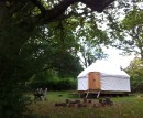 Rosalind Fowler's specially created organic film lab built inside a temporary yurt at the OrganicLea site