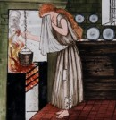 Cinderalla Tile Panel by Edward Burne Jones