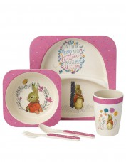 Flopsy Bunny Bamboo Dinner Set (pink)