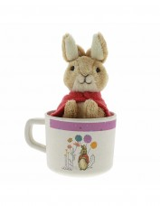 Flopsy Bunny Bamboo Mug with Toy (pink)