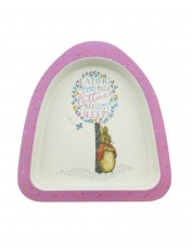 Flopsy Bunny Bamboo Plate (pink)