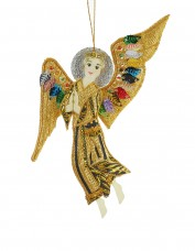 Gold Angel with Multicolour Wings