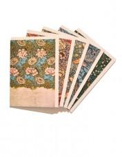 Selection of 5 greeting cards decorated with Morris patterns