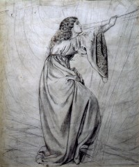 Jane Morris in medieval costume