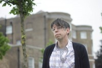 Darren Hayman outside the William Morris Gallery