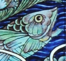 C111 William de Morgan tile detail