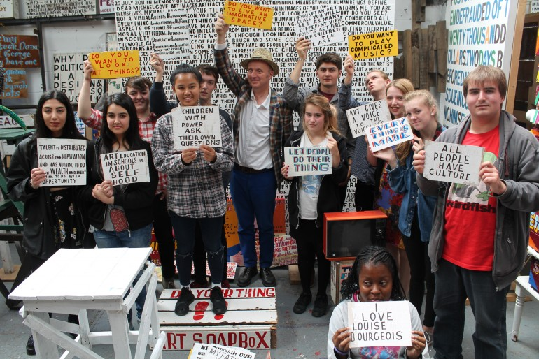Bob and Roberta Smith with young people